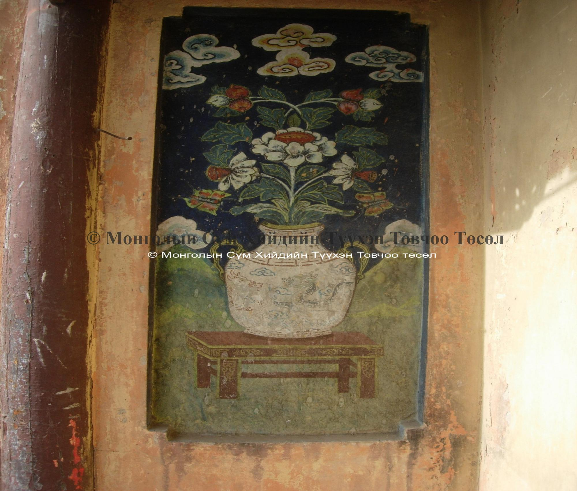 Old painting on the wall of the Northern temple