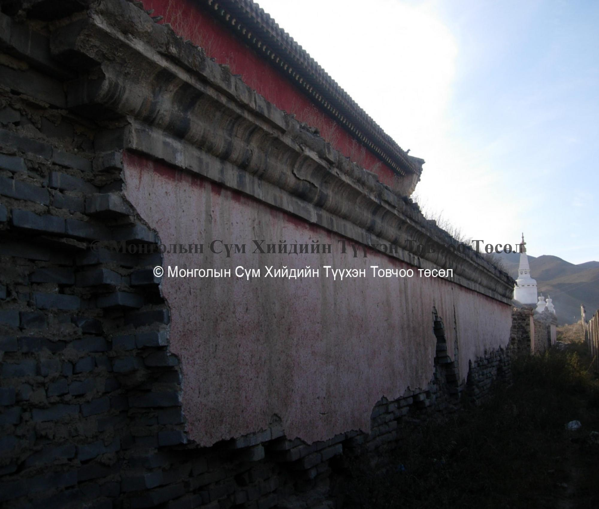 Northern wall of the monastery 2007