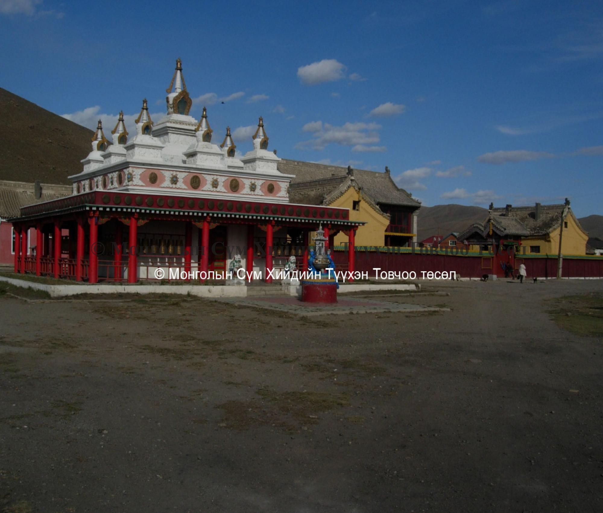 A new stupa west of the Palace 2007