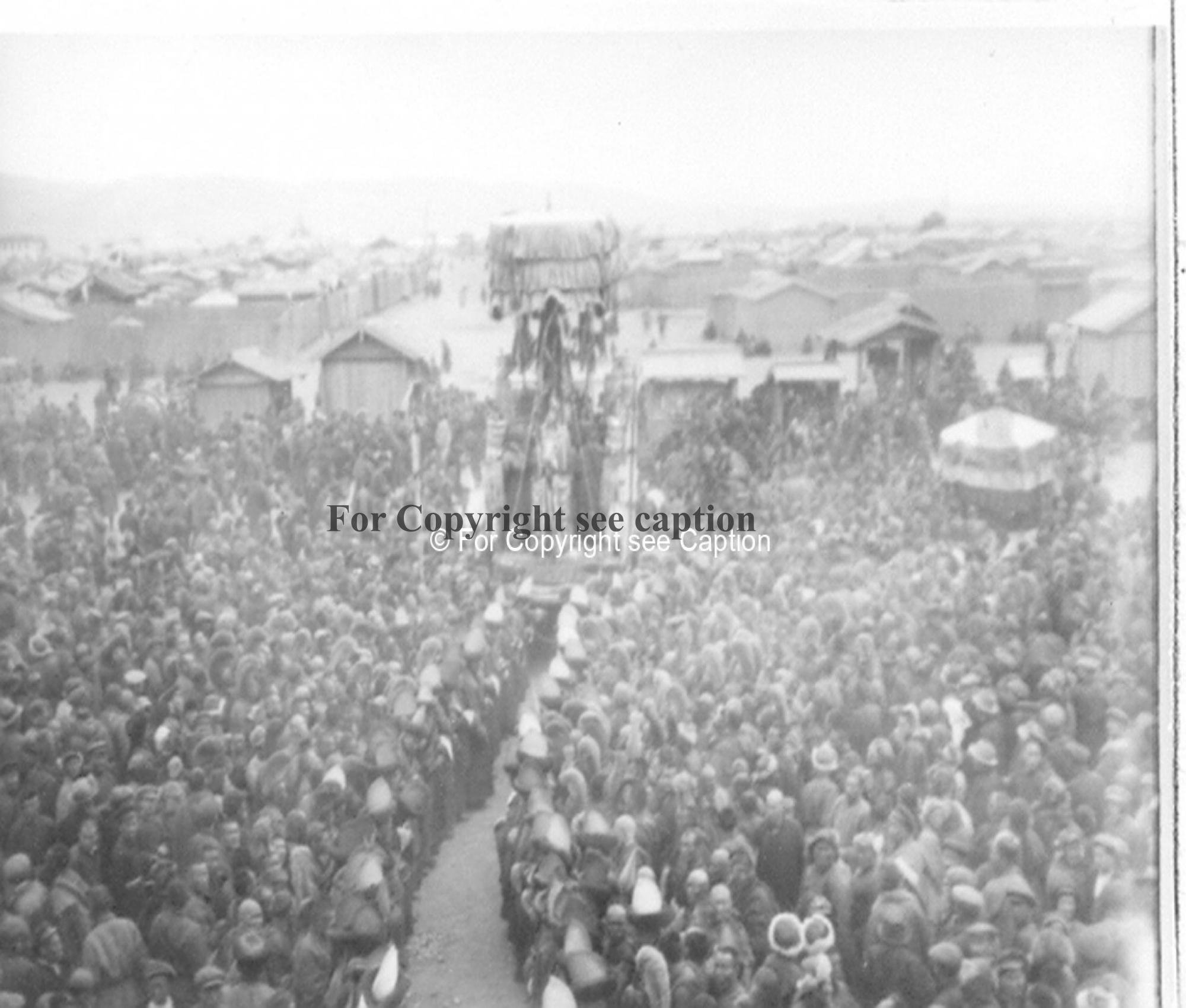 Maitreya procession. Film Archives K-24764