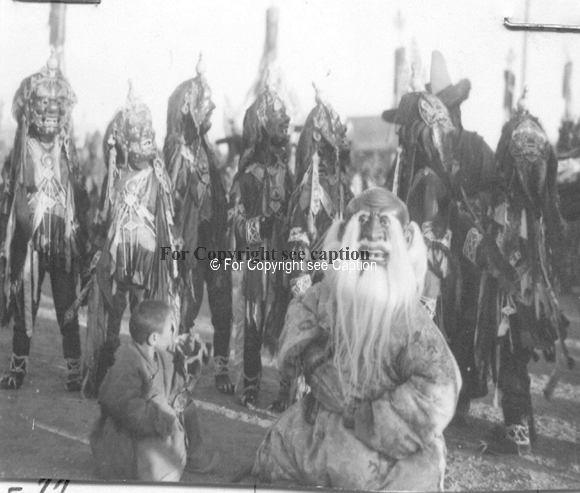 Tsam dance. The White Old Man and Ditugjad. Film Archives K-24877