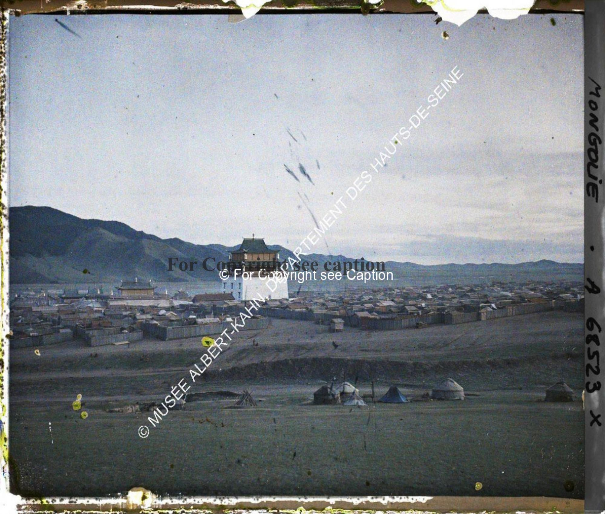 Gandan monastery from the North-East. Middle part of a panorama photo. Musée Albert-Kahn. A68523. Ph