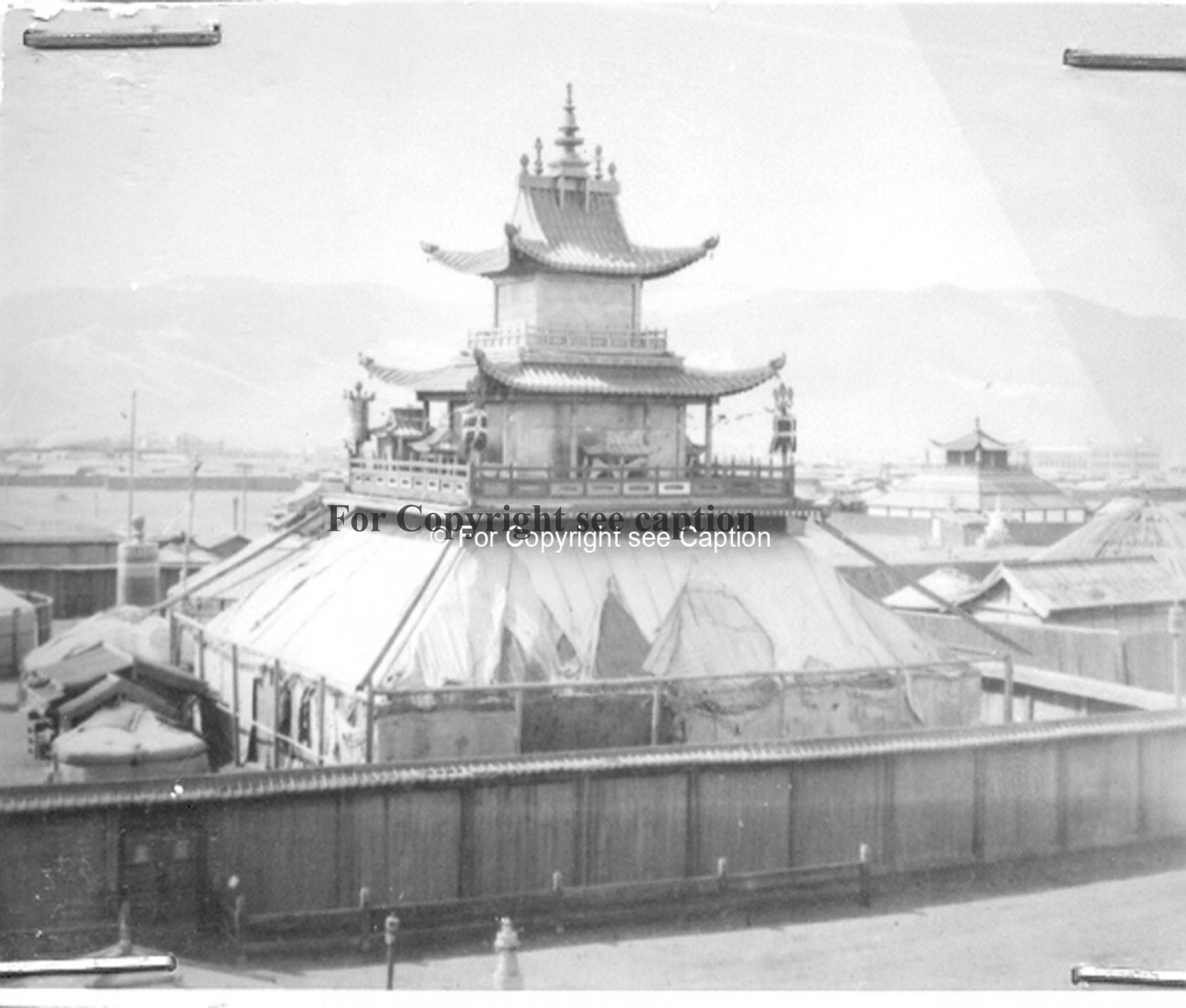 Dechingalav temple from the North. Film Archives K-23999