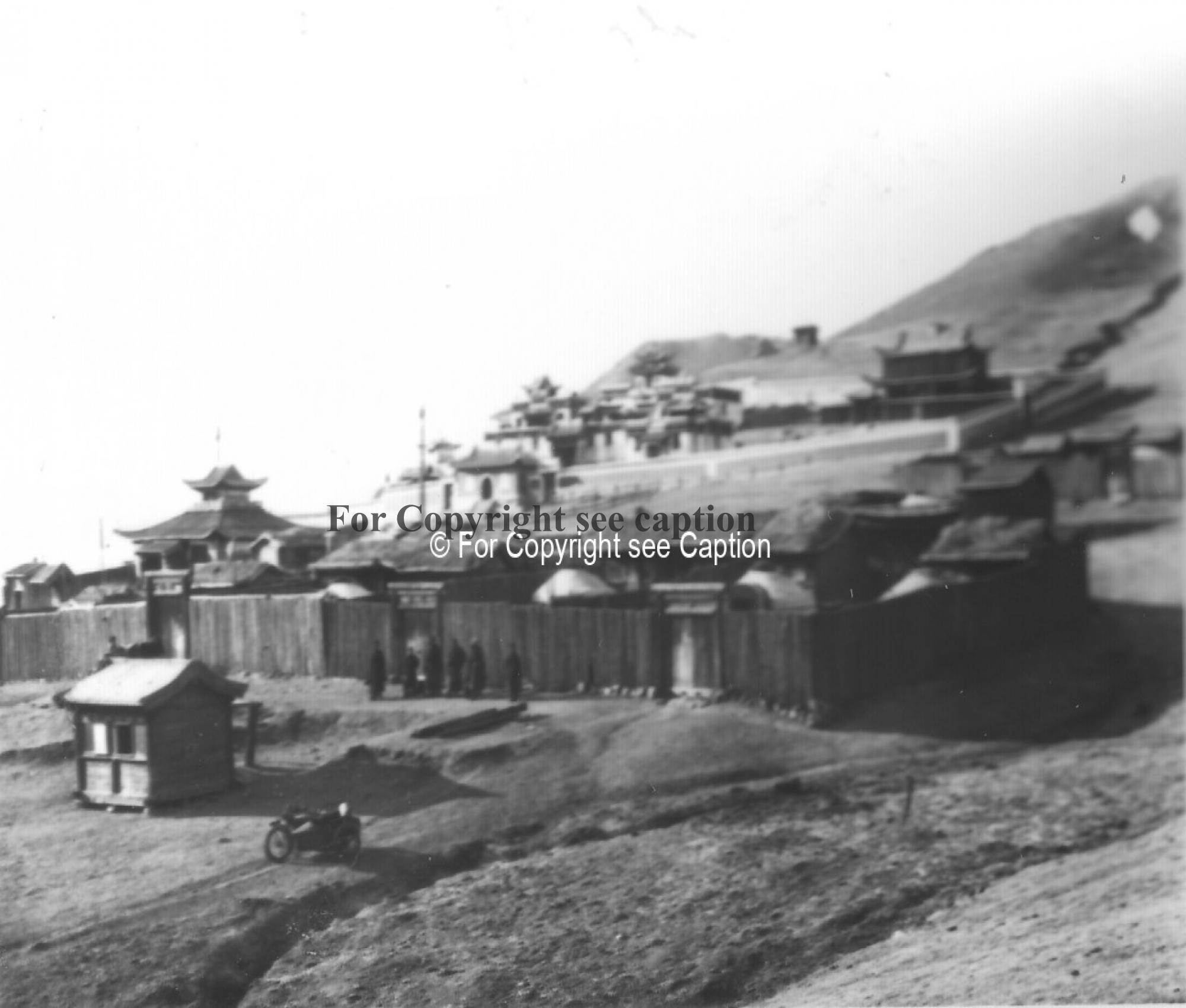 General view of the monastery from the South-East. Film Archives ?; Tsültem, N., Mongolian Architect