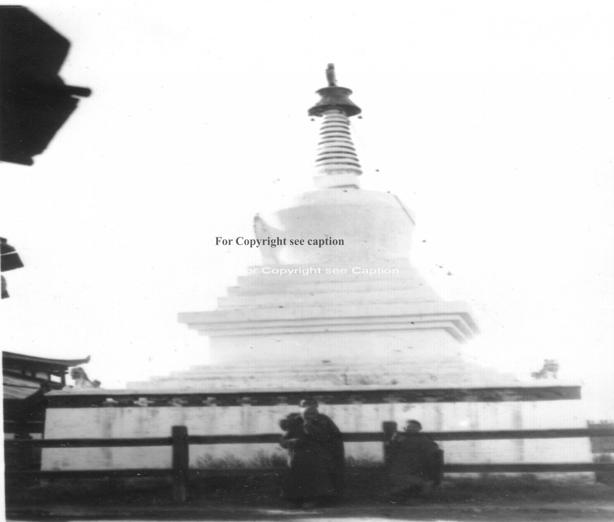 A large stupa. Film Archives K-23653